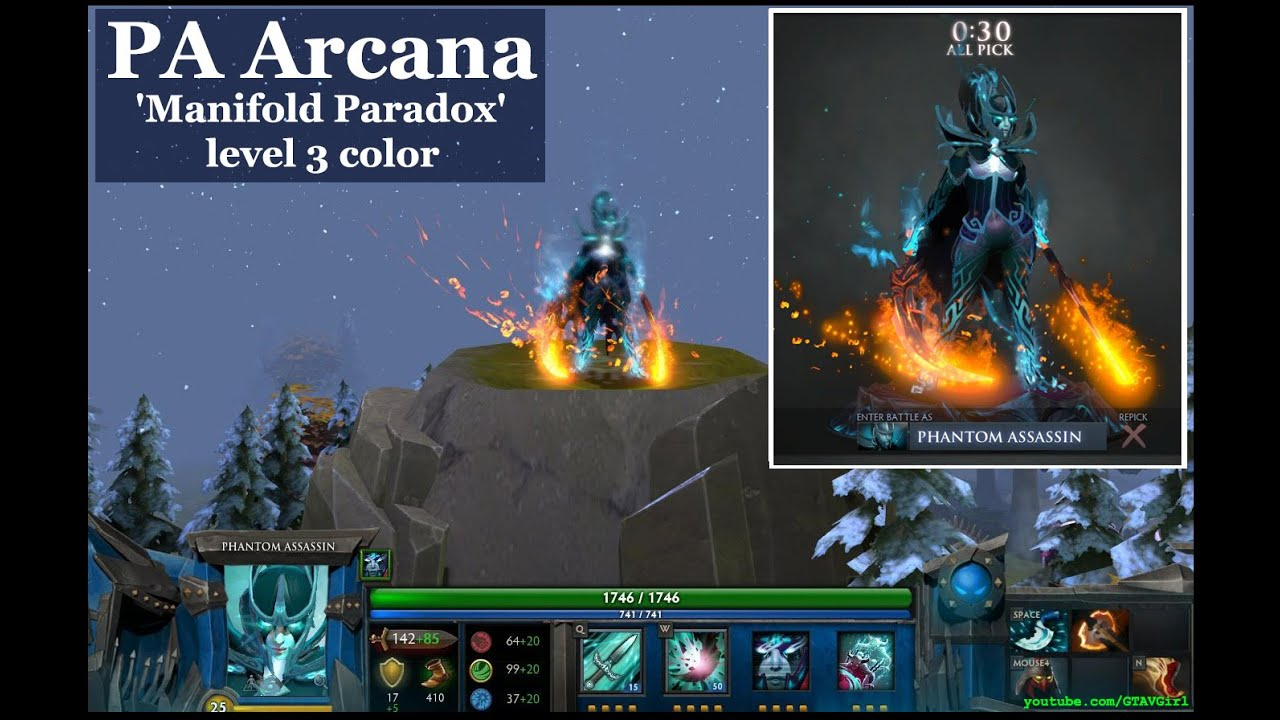DOTA 2 PA Arcana Manifold Paradox Level 3 Color In