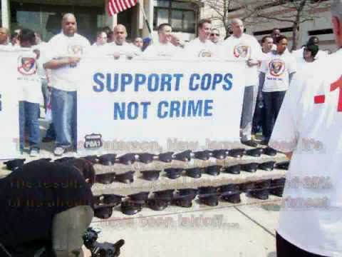 Paterson N.J. Police Officers Protest Layoffs