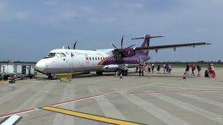 Cambodia Angkor ATR 72 flight from Siem Reap to Sihanoukville