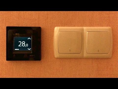 Теплый пол №4 – Терморегулятор DEVIreg Touch – сенсорный экран, расписание работы