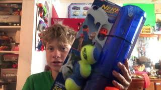 (review) nerf tennis ball launcher.
