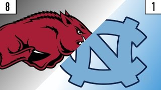 8 Arkansas vs. 1 North Carolina Prediction | Who