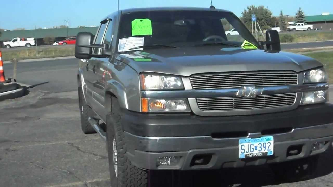 2003 Chevrolet Silverado 2500HD LT, Crew cab, 4x4, Duramax 6.6 liter Turbo Diesel, NICE!!! - YouTube