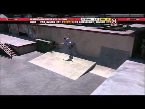 X Games 17: Ryan Sheckler takes Bronze in Men's Skateboard Street Final