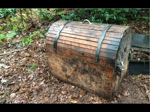 Found treasure chest while metal detecting!