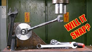 Which is the Strongest Wrench Type? Hydraulic Press Test!