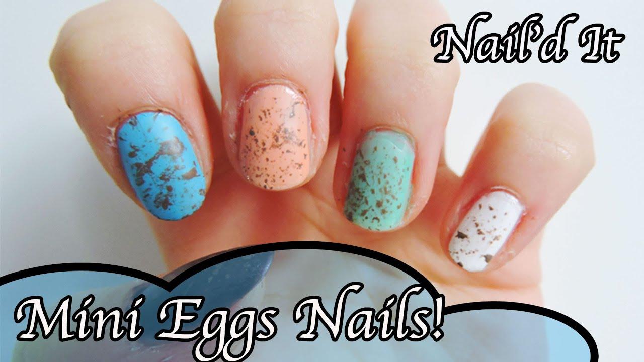 'mini Eggs' Easter Nail Art