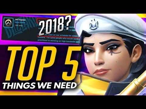 Overwatch | Top 5 Things We REALLY Need - 2018 Updates Wishlist