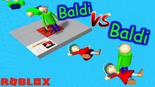 BALDI VS BALDI!! WHO WILL WIN?!   The Weird Side of Roblox: Baldi's Basics Obby RP