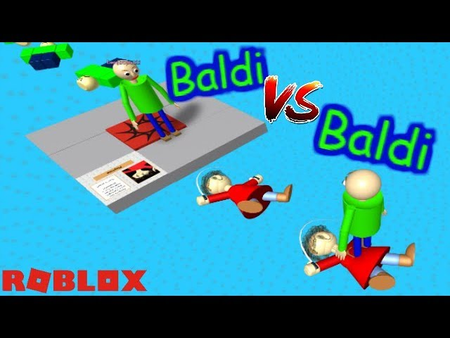 BALDI VS BALDI!! WHO WILL WIN?! | The Weird Side of Roblox: Baldi's Basics Obby RP