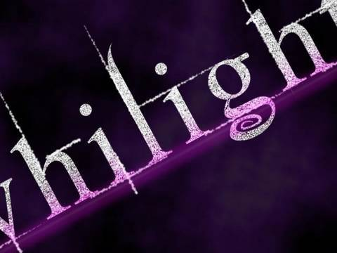 Photoshop Tutorial Twilight Text Effect