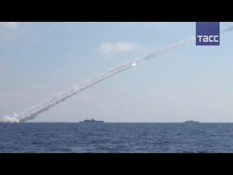 "Видео удара ""Калибров"" по позициям ИГ* в Сирии"