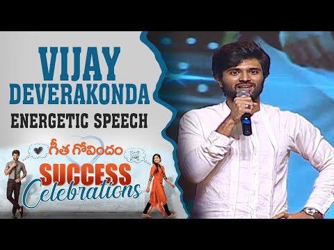 Vijay Deverakonda Energetic Speech At Geetha Govindam Success Celebrations   Chiranjeevi   Rashmika thumbnail