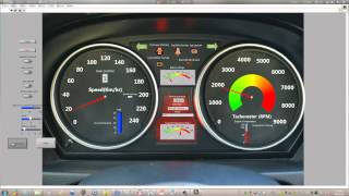 Design Vehicle Instrument Using Labview
