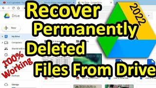 How to recover permanently deleted files from google drive