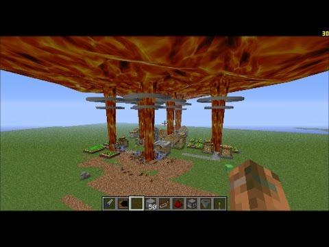 Minecraft: Nuking village with 7 nukes!!!