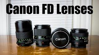CANON FD LENSES | Great Bargain 35mm Film Lenses