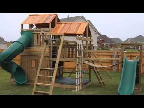 wood playground equipment residential