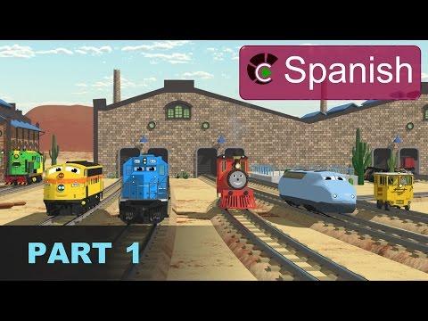 The Number Adventure SPANISH Aprende los números en la fábrica de trenes Parte 1