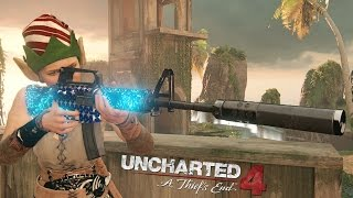 Uncharted 4 NEW Prison Map M4 Silenced King Of The Hill Gameplay 8075 Score