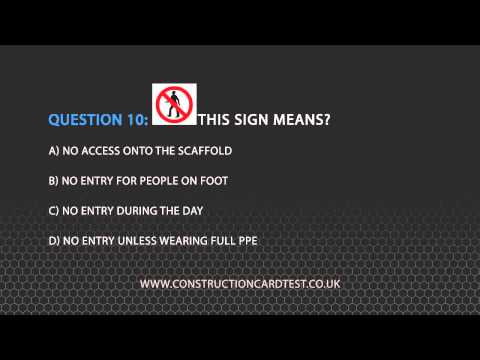 CSCS Test Questions Video 4