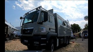 MAN TGS 26.480 BL 6X6 Camper truck Globecruiser 7500 family action mobil walkaround and interior K73