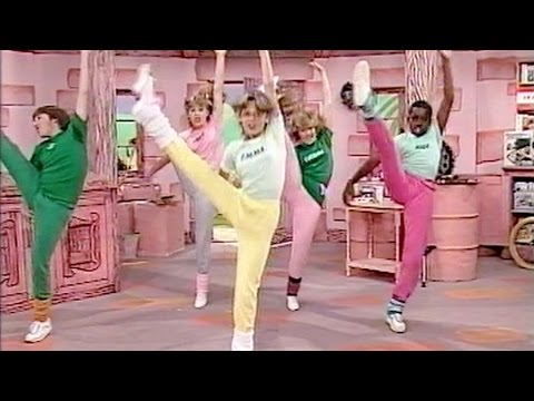 From the very first episode of Emu's All Live Pink Windmill Show, broadcast on Friday, 13th July, 1984, this is a rendition of Can't Stop the Music, originally by the Village People. Not bad...