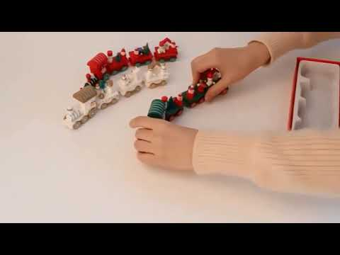 Wooden Trains Children Kindergarten Christmas Decoration Ornaments Gifts