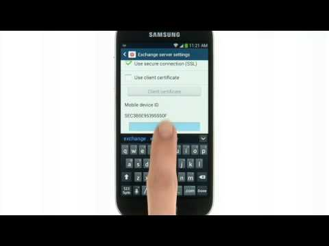 how to find email settings on samsung galaxy g390