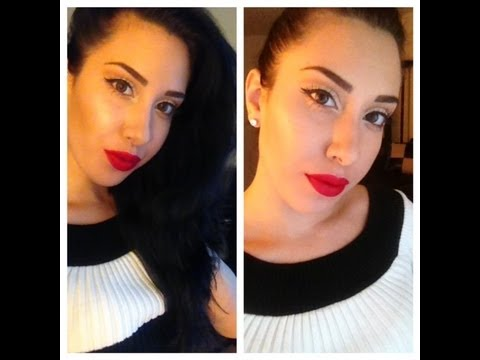 Sexy Neutral Eyes & Bold Lips Marilyn Monroe Inspired Tutorial!