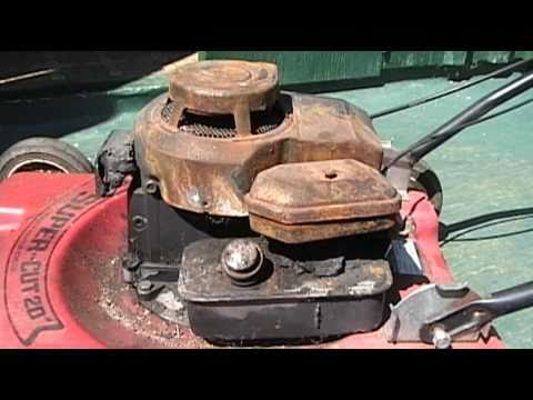 Restoring a Burnt Lawnmower Engine