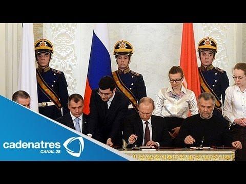 Vladimir Putin avala la anexión de Crimea a Rusia