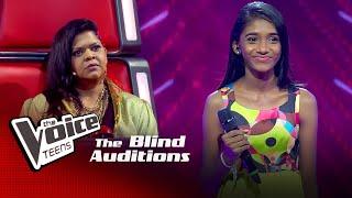 Rukshika Shyamali | Rathnapuren Gena A  Blind Auditions |The Voice Teens Sri Lanka