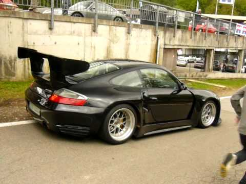 Porsche 996 GT2R with 827 HP and Mattblack 997 GT3 RS