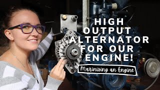 New high output alternator for our engine! [Yacht Refit & Restoration Week 69] (Ep.78)
