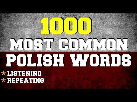 1000 Most Common Polish Words