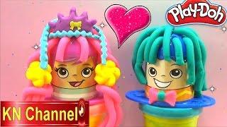 Đồ chơi trẻ em Bé Na chơi Play-doh đất nặn Đám cưới làm tóc cô dâu chú rễ  Kids toys