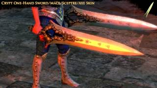 Path of Exile - Crypt One-Hand Sword/Mace/Sceptre/Axe Skin