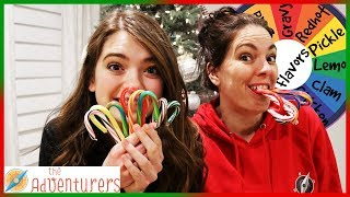 Mystery Wheel Candy Cane Chubby Bunny Challenge I That YouTub3 Family The Adventurers