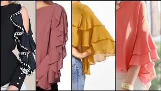 Elegant Ruffle Sleeves Design And Ideas (2019) - Ruffle Sleeves Design For Tops And Blouses
