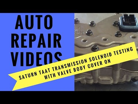 Saturn TAAT Transmission Solenoid Testing with valve body cover on