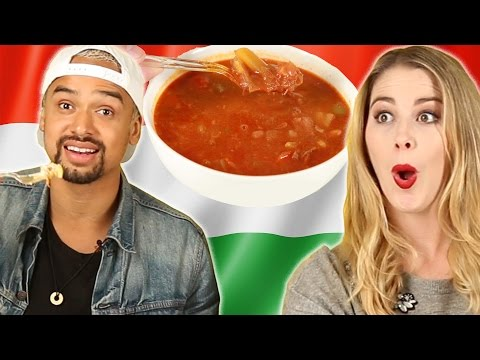 People Try Hungarian Food For The First Time
