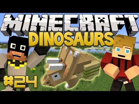 Minecraft Dinosaurs Mod (Fossils and Archaeology) Series. Episode 24 - SHINY Triceratops?