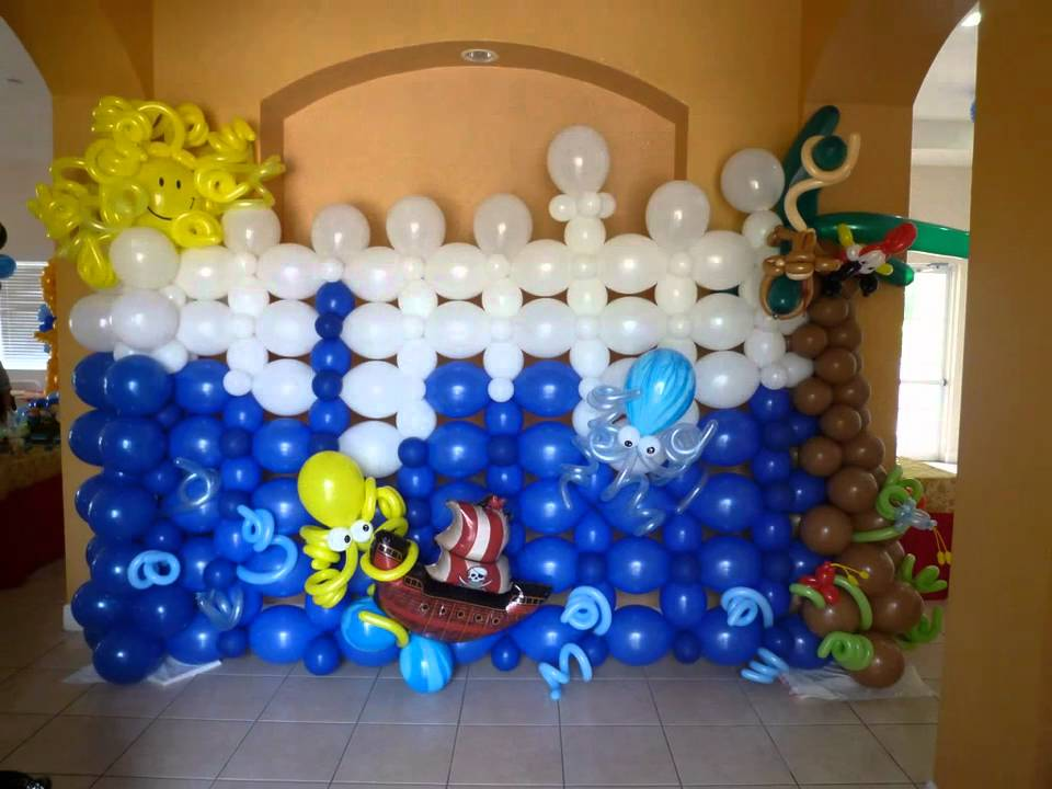 Back Wall Party Design Balloon Decoration Pirate Theme
