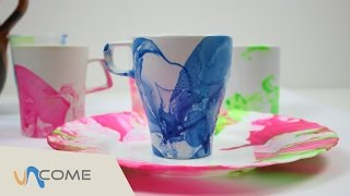 Decorare una tazza con smalto / marble art