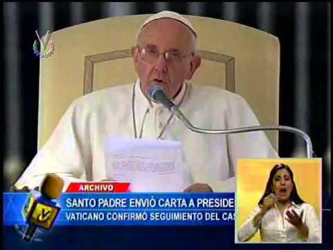 """Papa Francisco envió una """"carta personal"""" al presidente Nicolás Maduro"""