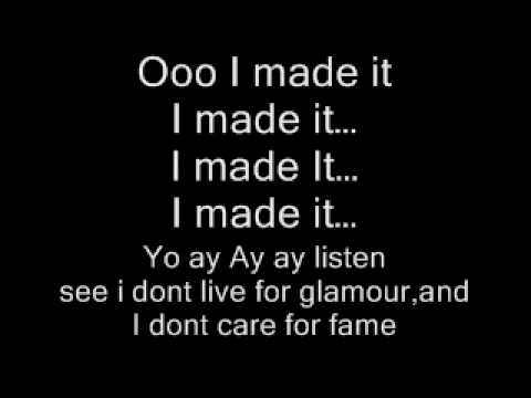 Lil Wayne Ft Kevin Rudolf Birdman Jay Sean I Made It Lyrics