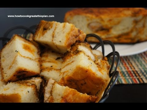 Ethiopian Food -  Doro Dabo Recipe - Chicken Bread Amharic English - Injera Kitfo Doro Berbere