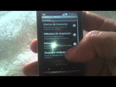 Review XPERIA X10 mini con ADW Launcher EX