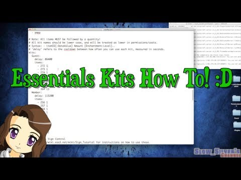 Creating Minecraft Kits & Kit Signs Using Essentials Bukkit Tutorial How To!